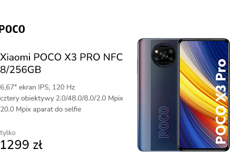 Xiaomi POCO X3 PRO NFC 8/256GB Phantom Black