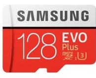Test Samsung 128GB microSDXC Evo Plus zapis 90MB/s odcz 100MB/s