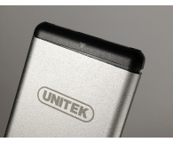 Test Unitek Obudowa do dysku M.2 (USB-C, aluminium, srebrny)