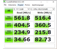 "Test Crucial 250GB 2,5"" SATA SSD MX500"