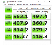 Test Crucial 250GB SATA SSD MX500 M.2 2280