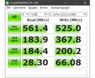 "Test Crucial 120GB 2,5"" SATA SSD BX300 OEM"