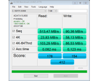 Test ADATA 240GB 2,5'' SATA SSD Ultimate SU650