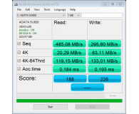"Opinia o ADATA 240GB 2,5"" SATA SSD Ultimate SU650"