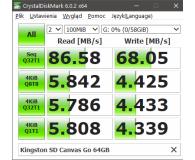 Test Kingston 64GB SDXC Canvas Go! 90MB/s C10 UHS-I U3