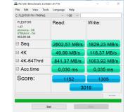 Test Plextor 1TB M.2 PCIe NVMe M9PeG