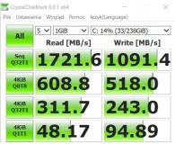 Test Plextor 256GB M.2 PCIe NVMe M9PeGN