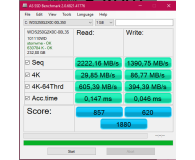 Test WD 250GB M.2 2280 PCI-E SSD Black
