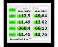 Test Samsung 128GB FIT Plus Gray 300MB/s