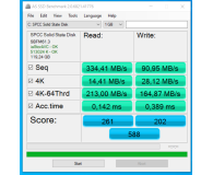 "Test Silicon Power 128GB 2,5"" SATA SSD A55"