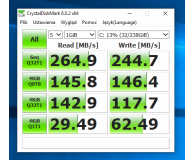 Test Silicon Power 256GB 2,5'' SATA SSD A55