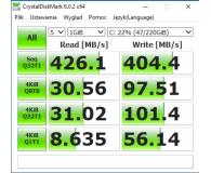 "Test Crucial 240GB 2,5"" SATA SSD BX500"