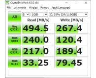Test GOODRAM 128GB 2,5'' SATA SSD CX400 7mm