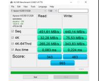"""Test Apacer 512GB 2,5"""" SATA SSD AS350 Panther"""