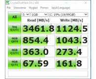 Test ADATA 256GB M.2 PCIe NVMe XPG SX8200 Pro