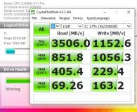 Test ADATA 256GB M.2 PCIe NVMe XPG GAMMIX S11 Pro