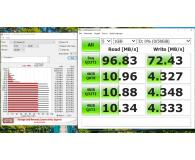 Test Patriot 64GB EP microSDXC 100/80MB (odczyt/zapis)