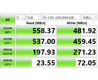 "Test Crucial 960GB 2,5"" SATA SSD BX500"