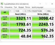 PNY 1TB M.2 PCIe NVMe XLR8 CS3030  - Tomasz