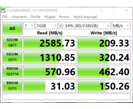 Test Silicon Power 256GB M.2 PCIe NVMe A80