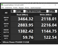 Test Silicon Power 512GB M.2 PCIe NVMe A80
