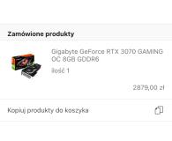 Gigabyte GeForce RTX 3070 GAMING OC LHR 8GB GDDR6 - Maksymilian
