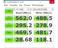 Test  GOODRAM 240GB 2,5'' SATA SSD Iridium PRO - Leonid