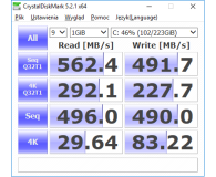Test  GOODRAM 240GB 2,5'' SATA SSD Iridium PRO - ChrissWhite
