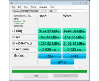 Test  Samsung 250GB 1,8'' Seria 960 EVO M.2 2280 NVMe - majka.chrubiel