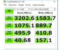 Test  Samsung 250GB 1,8'' Seria 960 EVO M.2 2280 NVMe - Collel
