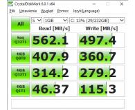 Test  Crucial 250GB SATA SSD MX500 M.2 2280 - Maciej