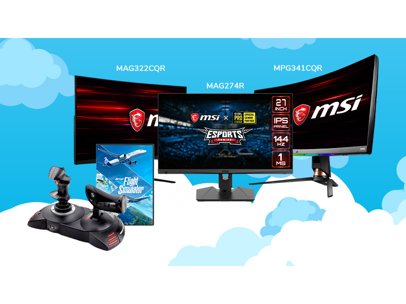 kup monitor MSI i odbierz Flight Simulator 2020