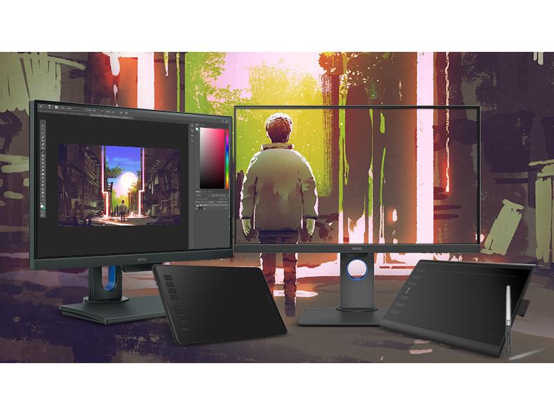 wybierz monitor BenQ i odbierz tablet graficzny Huion w prezencie