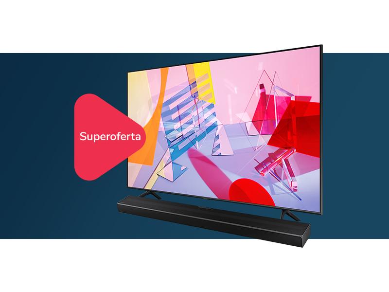 kup TV Samsung i odbierz soundbar Samsung HW-Q60T o 50% taniej