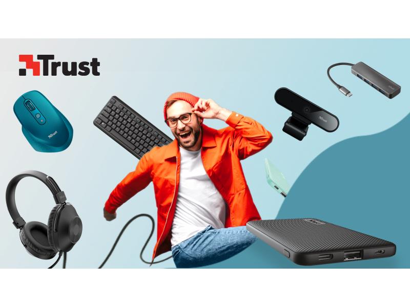 kup dowolne produkty Trust za minimum 200 zł i odbierz darmowy powerbank