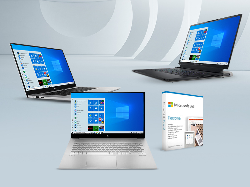 postaw na laptop Dell, Huawei lub HP z Microsoft 365 Personal w prezencie