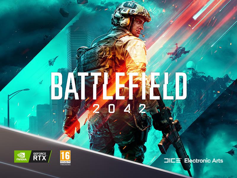postaw na komputer z kartą graficzną Geforce RTX i zgarnij grę Battlefield 2042