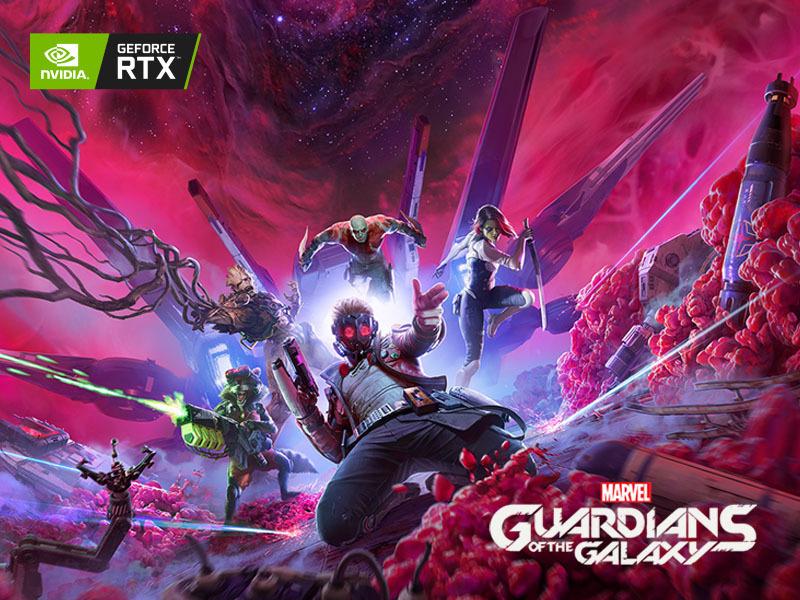 kup wybrane produkty GeForce RTX™ z serii 30 i odbierz grę Marvel's Guardians of the Galaxy