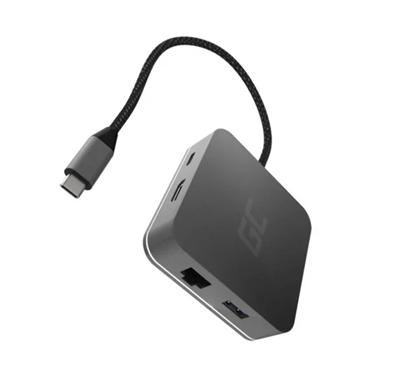 Stacja dokująca do laptopa Green Cell USB-C - USB-C, 3xUSB, HDMI, RJ-45