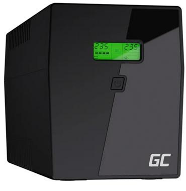 Zasilacz awaryjny Green Cell UPS (1500VA/900W, 4x Schuko, AVR, LCD)