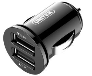 Unitek ładowarka samochodowa 2x USB 4,8A 24W