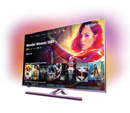 Kup telewizor Phillips Ambilight i zgarnij voucher na filmy w Rakuten TV