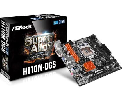 ASRock H110M-DGS (H110 PCI-E DDR4)-281089 - Zdjęcie 1