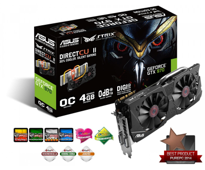 ASUS GeForce GTX970 4096MB 256bit DirectCu II Strix OC-208786 - Zdjęcie 1