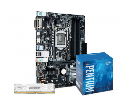 ASUS PRIME B250M-A + Intel G4600 + Crucial 8GB 2400MHz-391547 - Zdjęcie 1