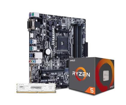 ASUS PRIME B350M-A + Ryzen 5 1600 + Crucial 8GB 2400MHz-391655 - Zdjęcie 1