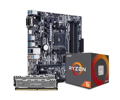 ASUS PRIME B350M-A + Ryzen5 1600 + Crucial 16GB 2400MHz-391660 - Zdjęcie 1