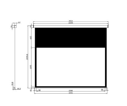 Avtek Ekran ręczny 107' 230x129,5 16:9 Biały Matowy -337701 - Zdjęcie 2