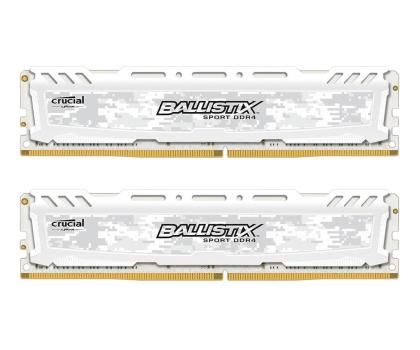 Crucial 16GB 2666MHz Ballistix Sport LT White CL16 (2x8GB)-351117 - Zdjęcie 1