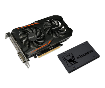 Gigabyte GeForce GTX 1050 TI OC 4GB + Kingston 120GB A400 gratis